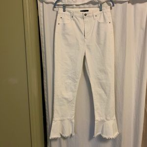Forever 21 White Fitted Flare Pants Size 29 (9/10)
